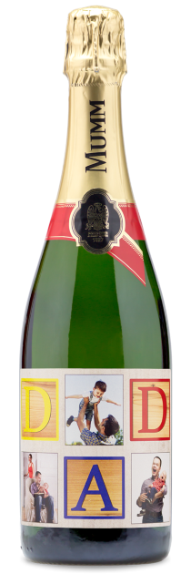 champagne father's Day gift - custom labeled wine bottle