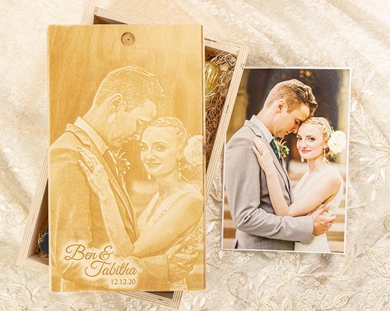 Photo engraved banner